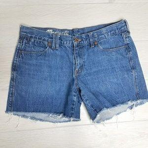 •MADEWELL• Cut Off Denim Shorts.